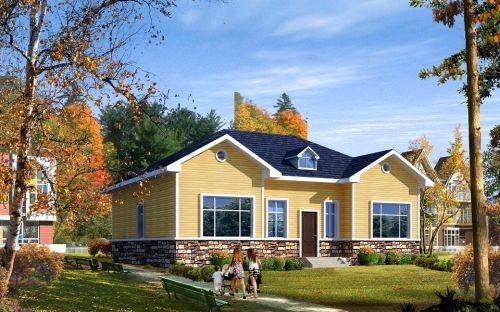 轻钢房屋的施工是一种干施工的方法